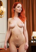 Joymii Ariel - Gorgeous redhead Ariel shows her poker face in this sexy gallery for Joymii!