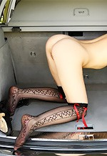 W4B Anna - Gorgeous Anna hangs out nude in the trunk of a car for Watch4Beauty!