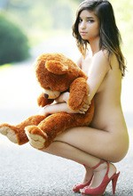 W4B Nika - Nika poses in the nude with her bear, showing off her sexy tight teen body for Watch4Beauty!