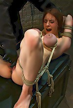 Iona Grace - Iona Grace is hogtied and being forced to have orgasms on a bondage site that is part of the kink network.