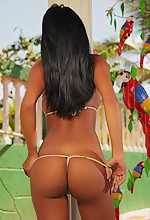 Latin Ass - Karina in a tiny bikini showing off her perfect Latin ass.