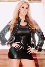 Got Gisele - Go Gisele in a sexy black leather outfit